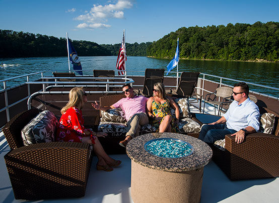 friends on a houseboat on Lake Cumberland in Somerset-Pulaski County, KY