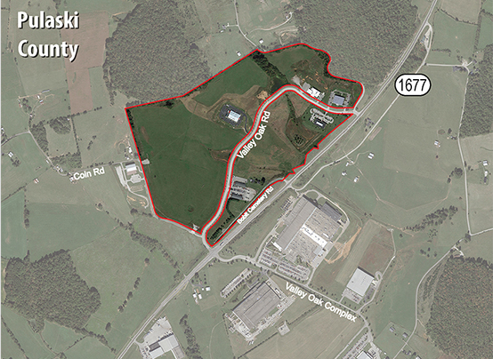 Vacant land available for development at Valley Oak Technology Complex in Somerset, KY