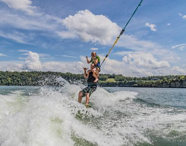 Surfing on Lake Cumberland, Somerset-Pulaski County, Kentucky