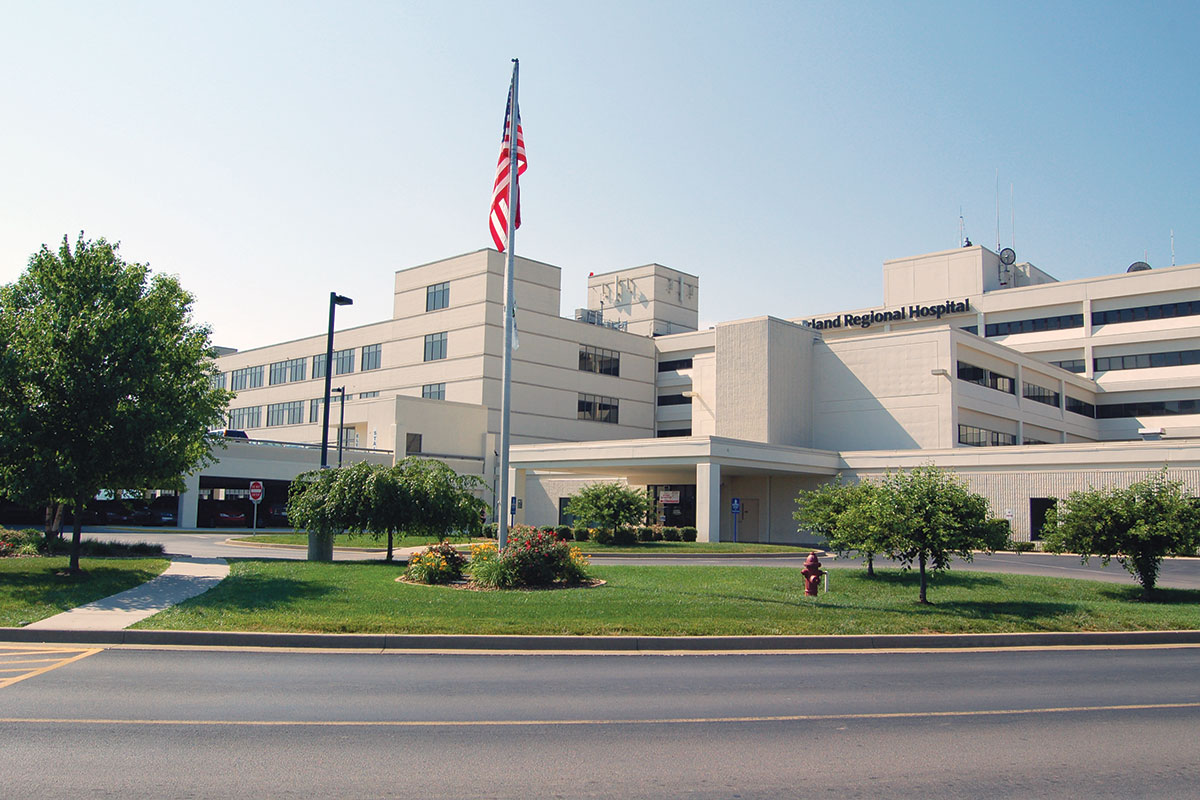 Exterior view of Lake Cumberland Regional Hospital located in Somerset-Pulaski County, KY
